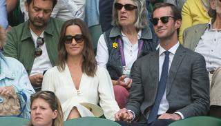 Newly weds Pippa Middleton with her husband James Matthews at the Centre Court