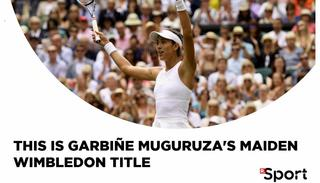 After winning last year's French Open, this was Garbiñe Muguruza's second Grand Slam title