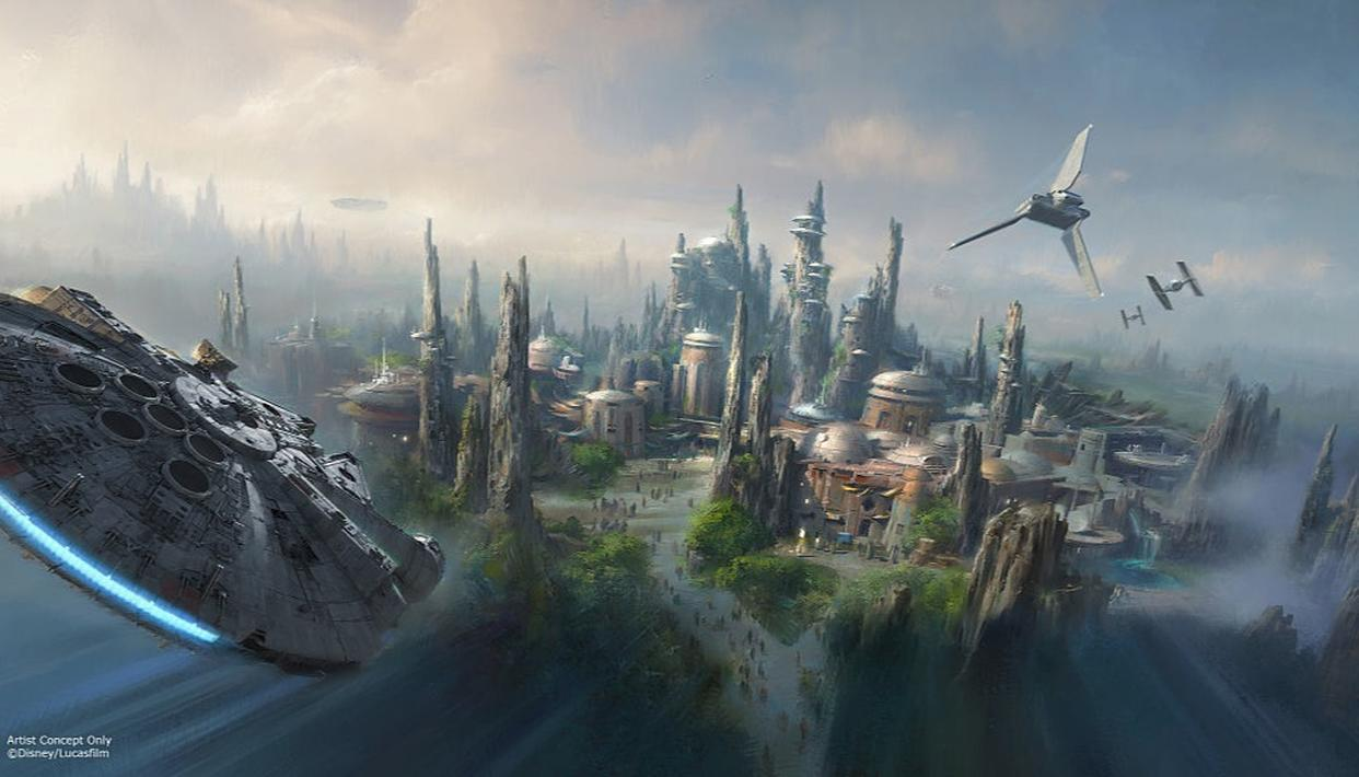 The Star Wars themed land is set to open in 2019 (Getty)