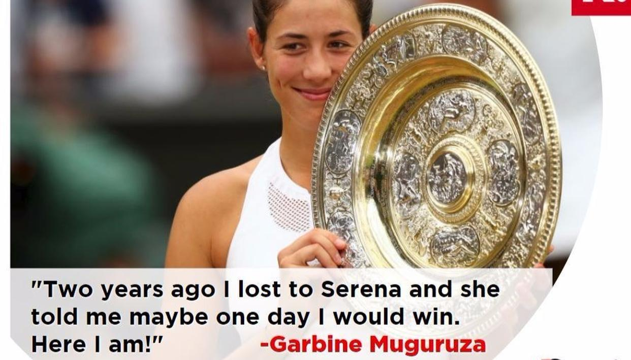 Serena Williams clearly did not anticipate Muguruza to beat her sister