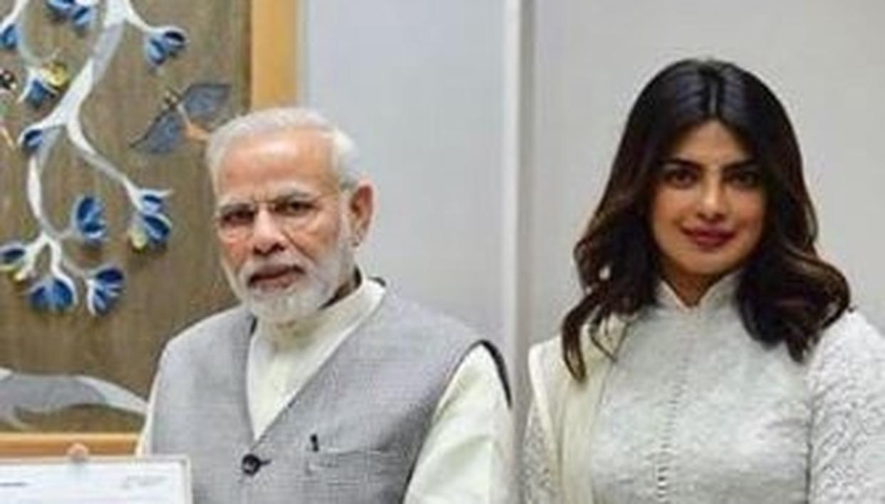 Image result for priyanka meets modi