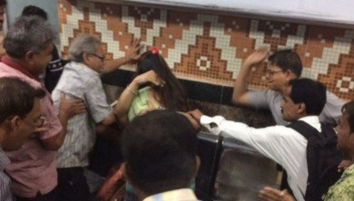 Image result for couple gets beaten up in kolkata metro