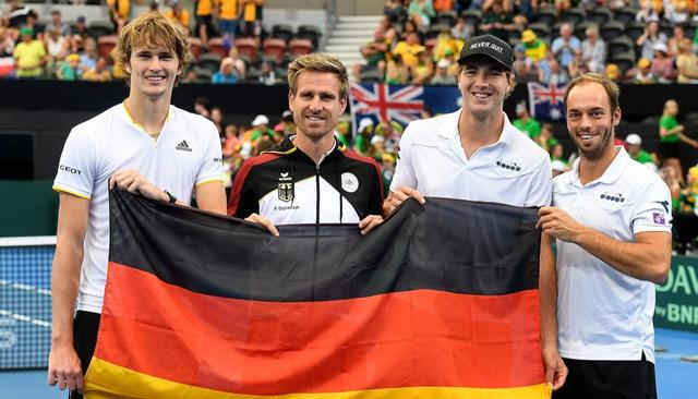 GERMANS THROUGH IN DAVIS CUP