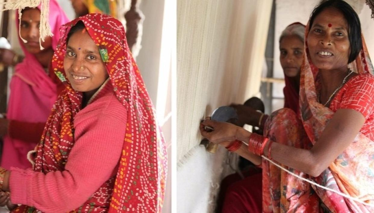 Transforming lives, all hand-woven