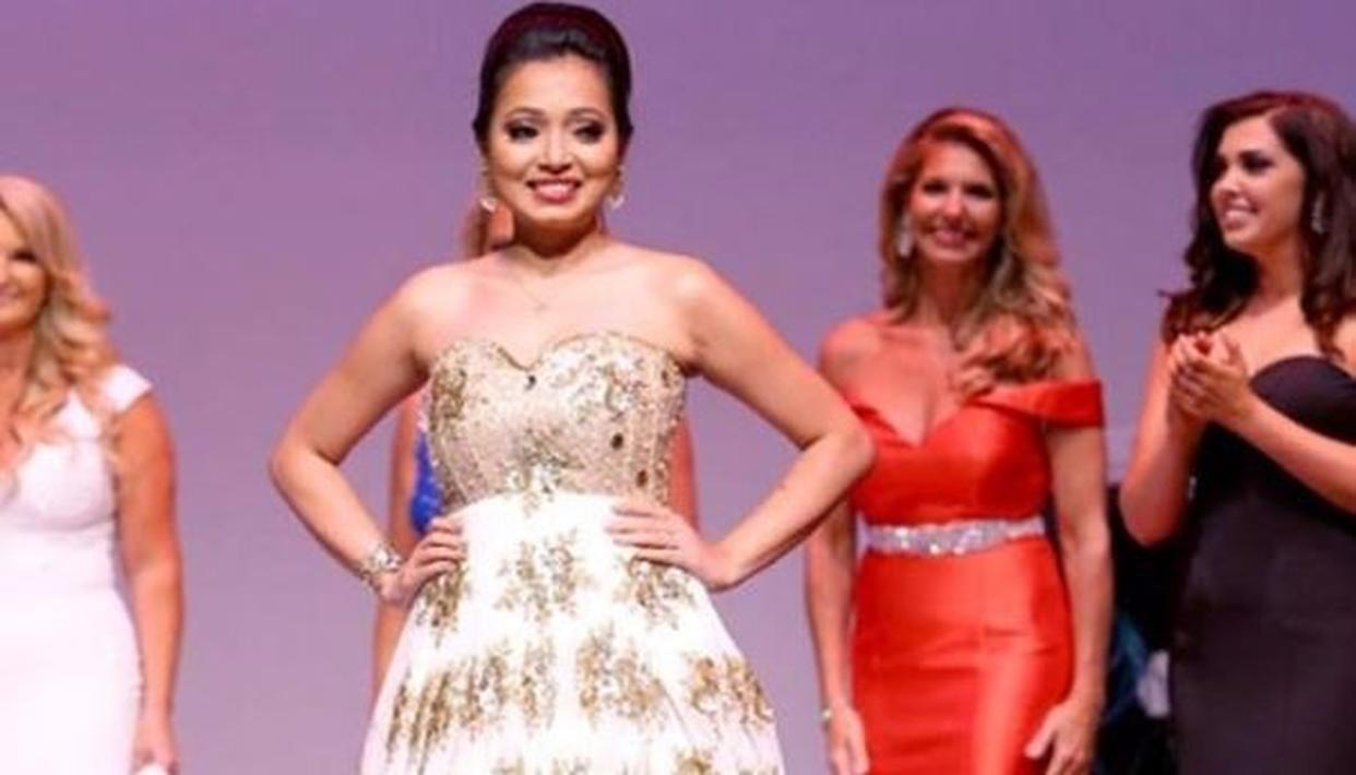 Assamese girl crowned third in Mrs. World pageant