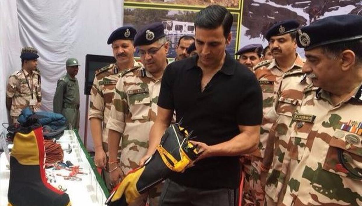 Akshay Kumar spends time with the Indo-Tibetan Border Police