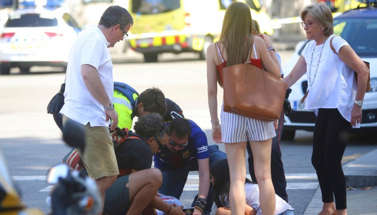 BARCELONA TERROR ATTACK: ONE DEAD SEVERAL INJURED AS VAN HITS CROWD