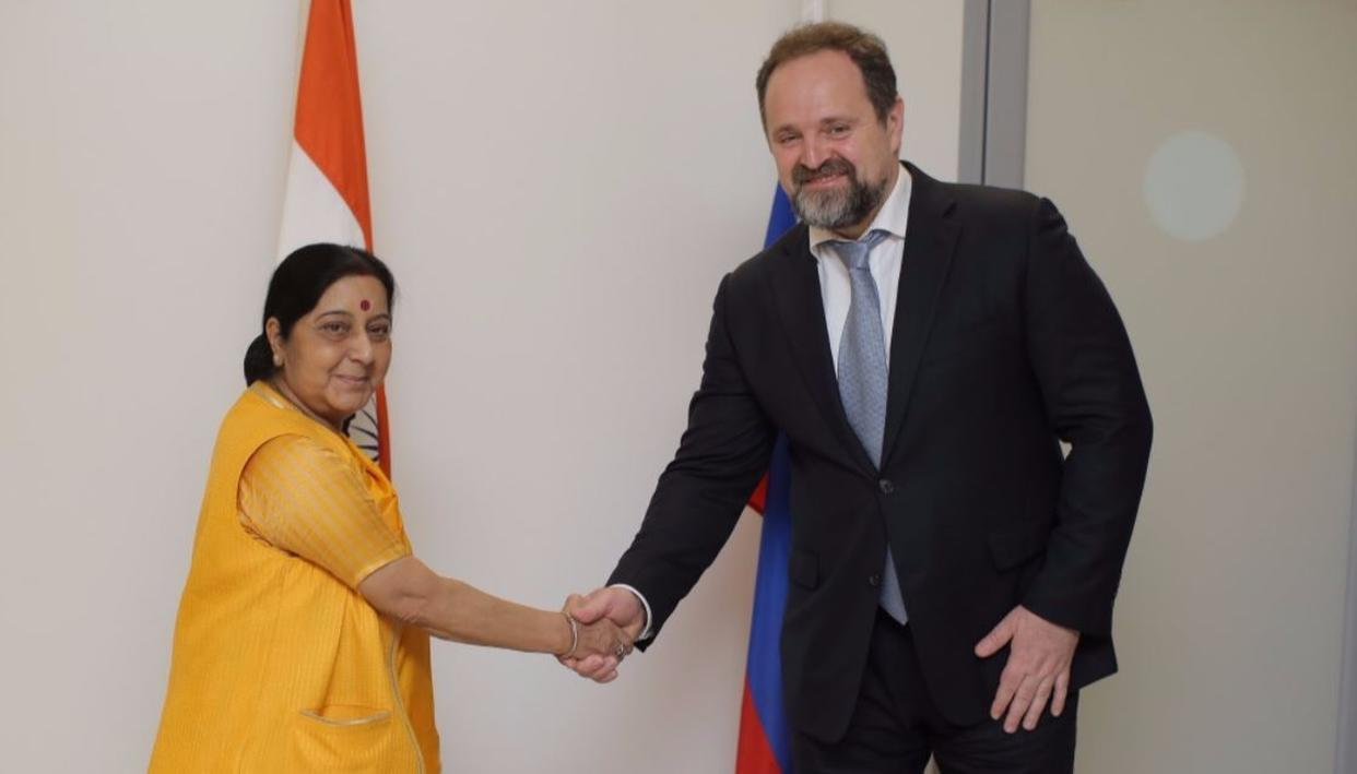 INDIA-RUSSIA TIES ROCK-SOLID, WILL MOVE FORWARD: EAM SUSHMA SWARAJ
