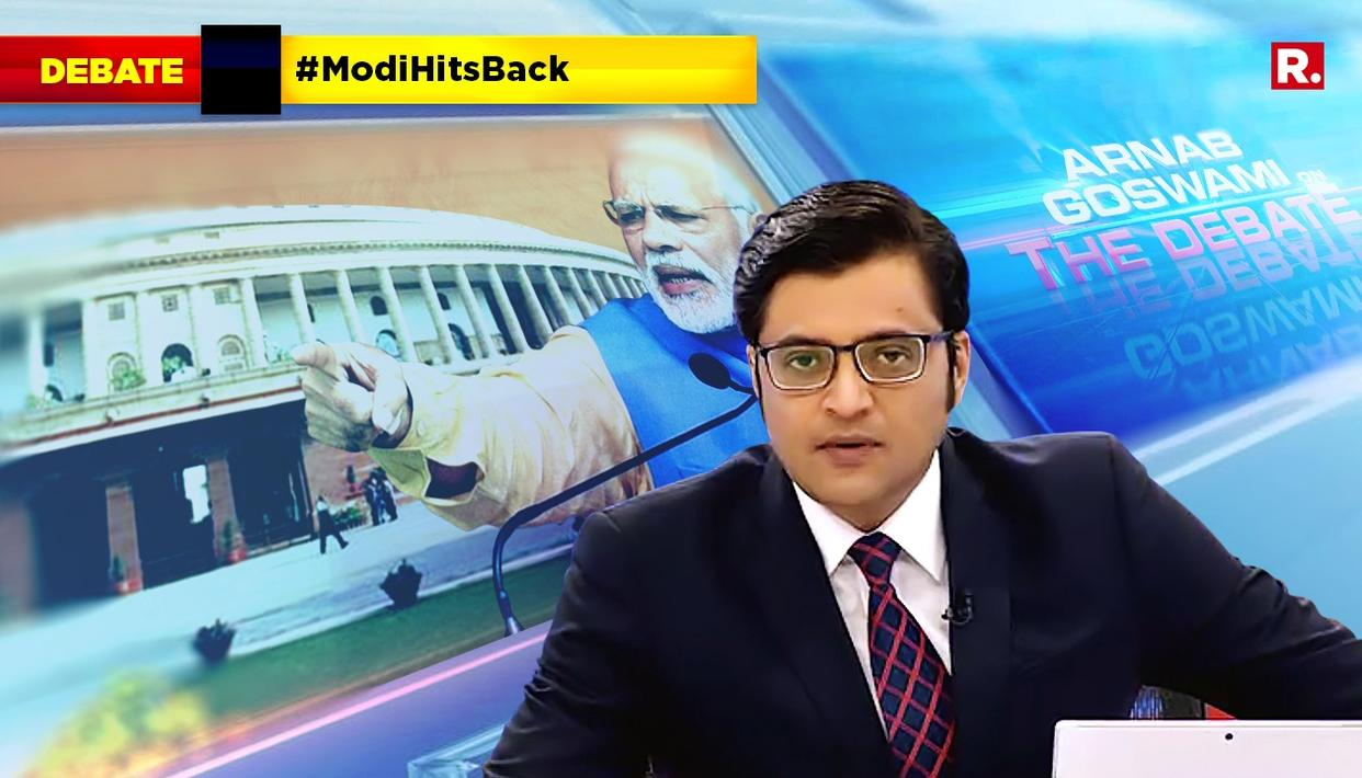 ARNAB SPEAKS ON #ModiHitsBack