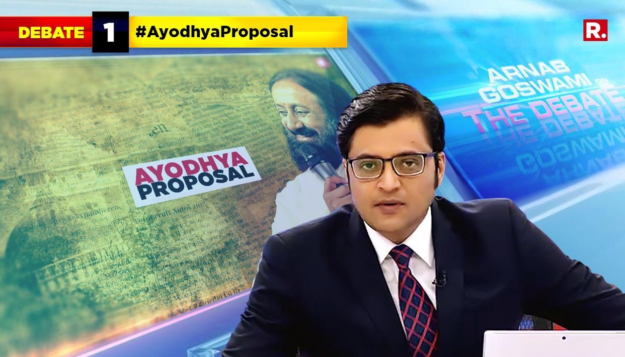 WATCH: ARNAB SPEAK ON #AyodhyaProposal