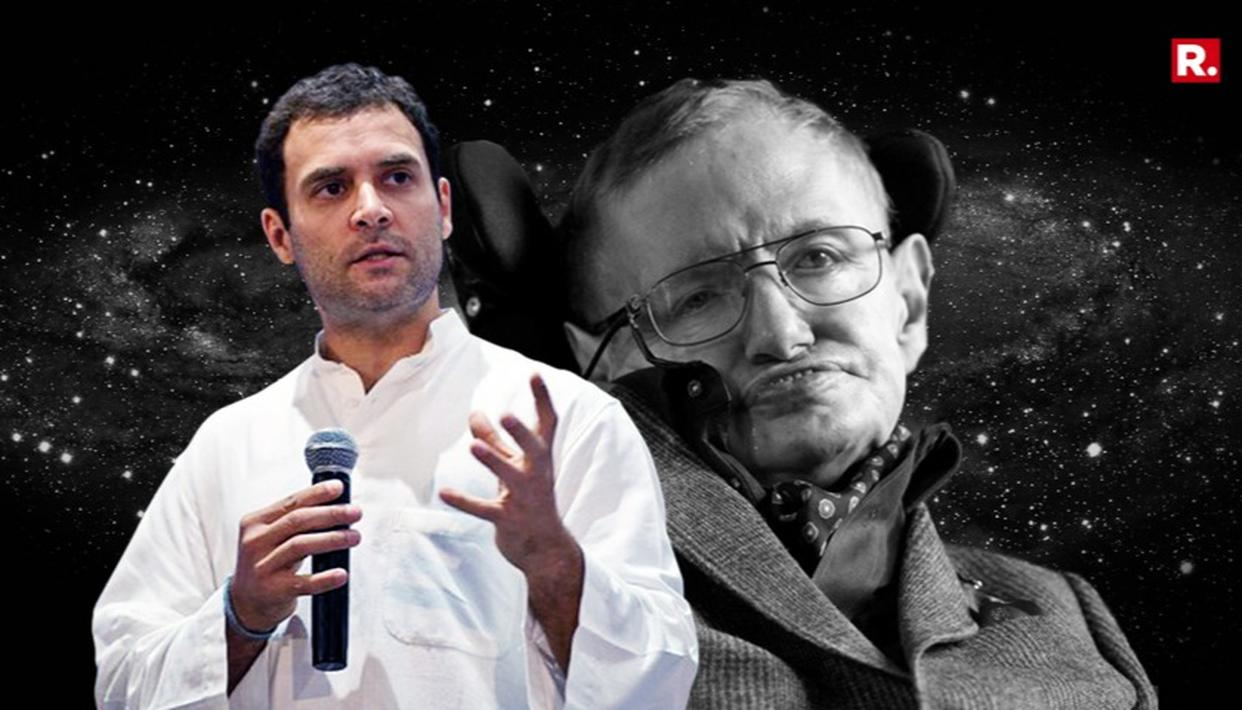 RAHUL GANDHI PAYS TRIBUTE TO STEPHEN HAWKING