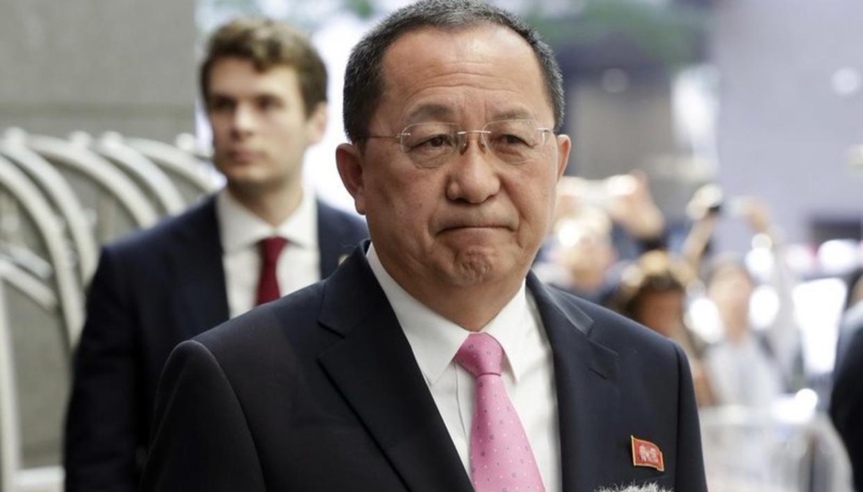 N KOREAN FM MEETS SWEDEN PM