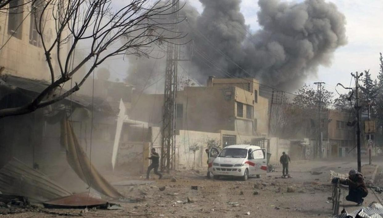 SYRIA: DEATH TOLL IN MARKET ATTACK RAISES TO 38