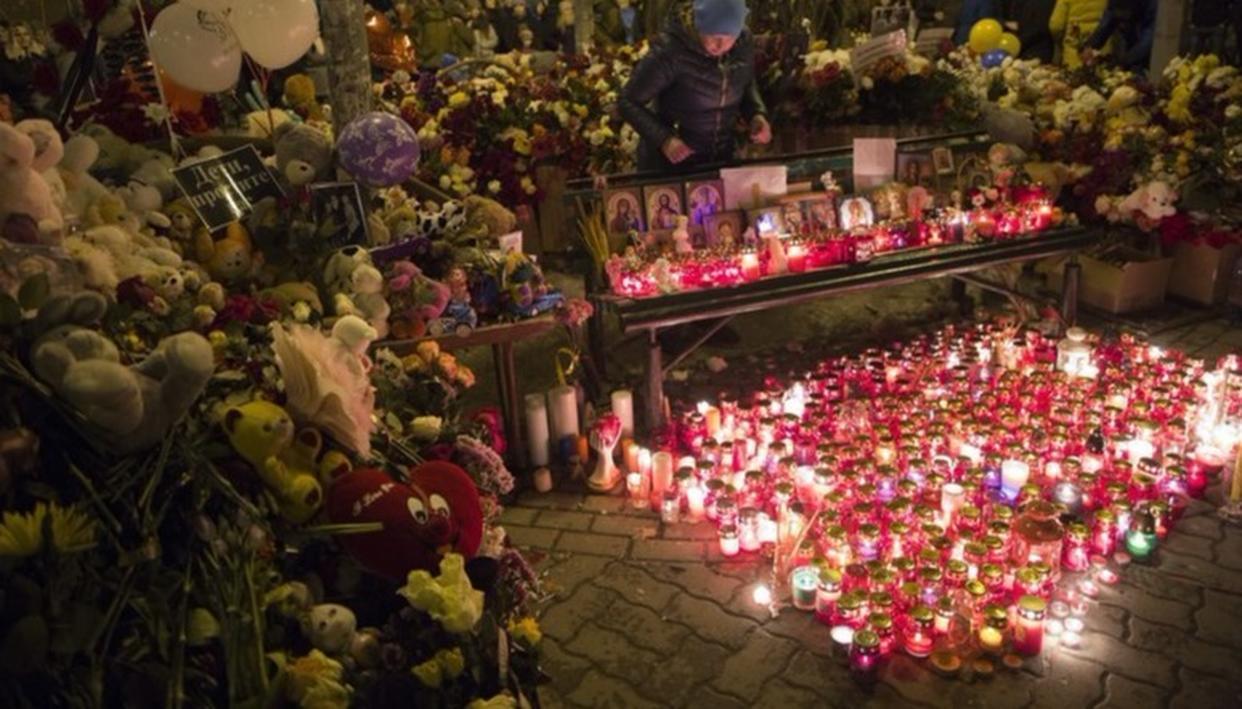 POPE CONDOLES DEATH OF RUSSIAN MALL FIRE VICTIMS