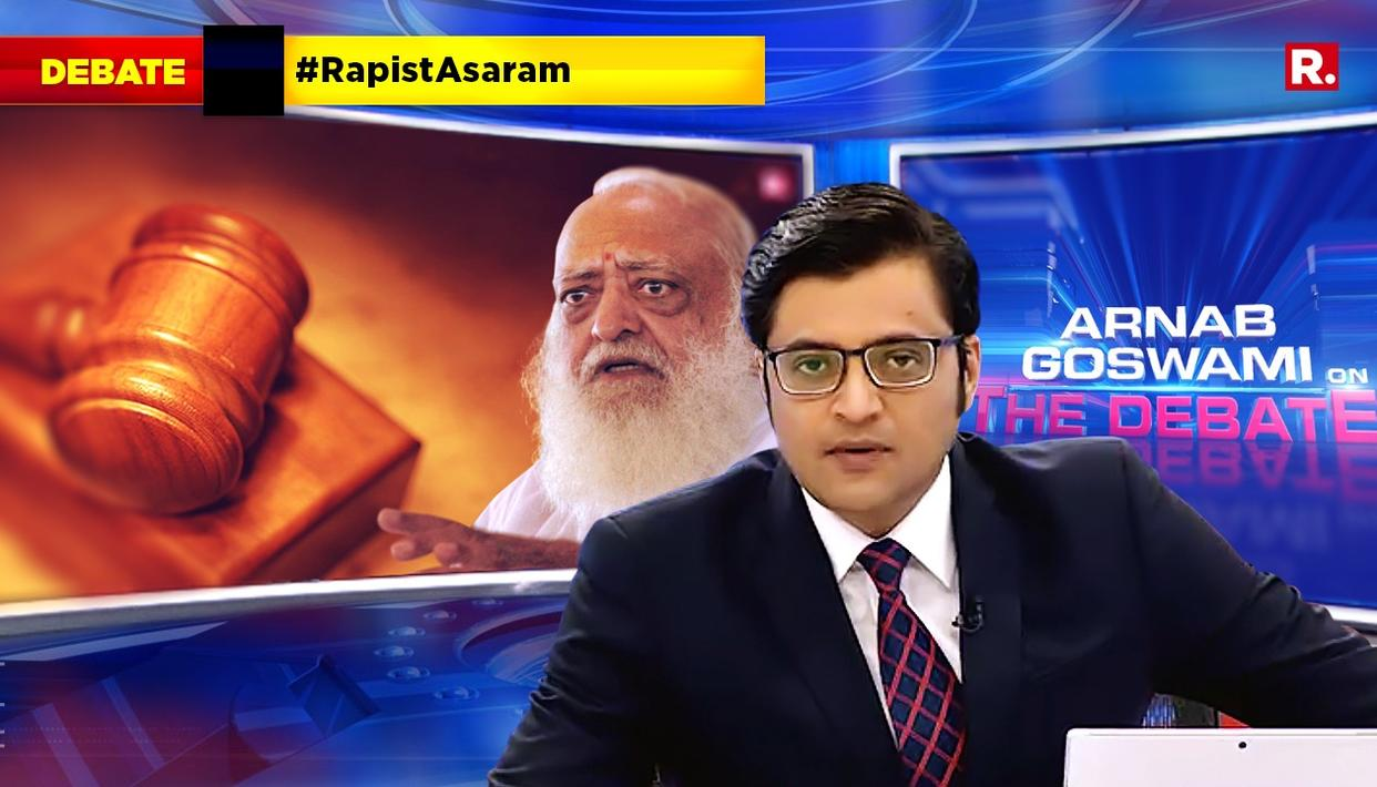 ARNAB SPEAKS ON #RapistAsaram