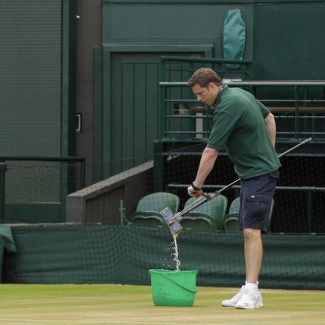 Here's how the courts stay manicured