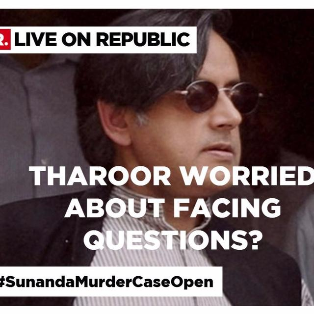 Questions Republic TV was stopped from asking Shashi Tharoor