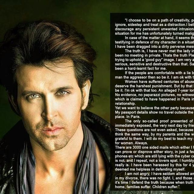 HRITHIK BREAKS HIS SILENCE ON HIS SPAT WITH KANGANA