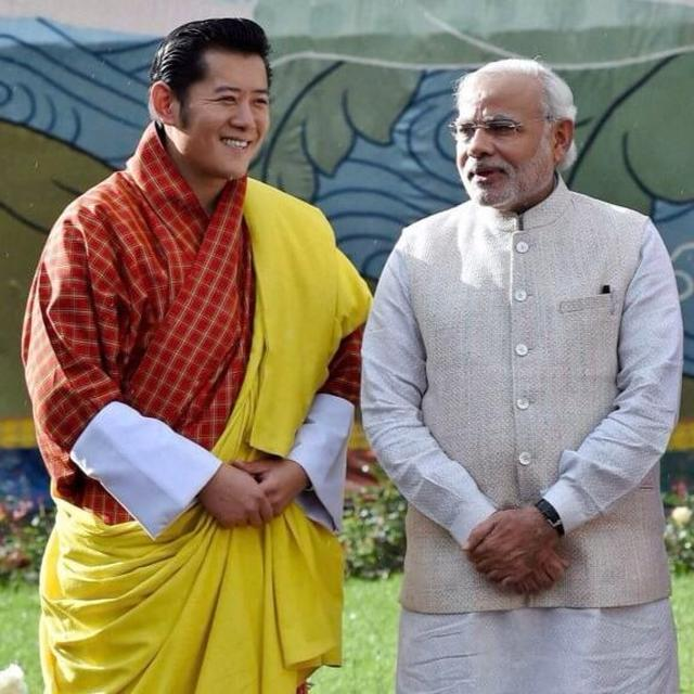 The King of Bhutan visits India