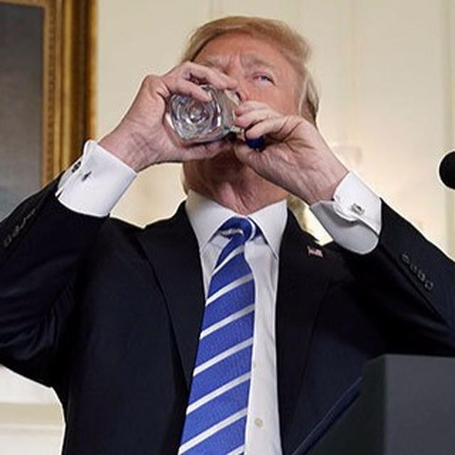 WATCH: TRUMP BOTTLED UP
