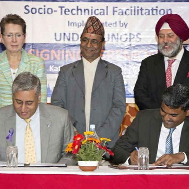 INDIA SEALS RECONSTRUCTION BID!