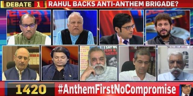 Rahul Against Standing up for Anthem?