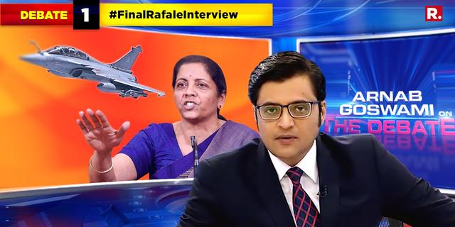 Raksha Mantri speaks to Arnab Goswami