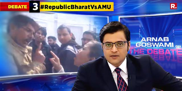 AMU staff, students attack Republic crew
