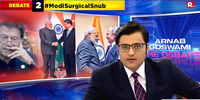It's a #ModiSurgicalSnub for Imran Khan at the SCO Summit