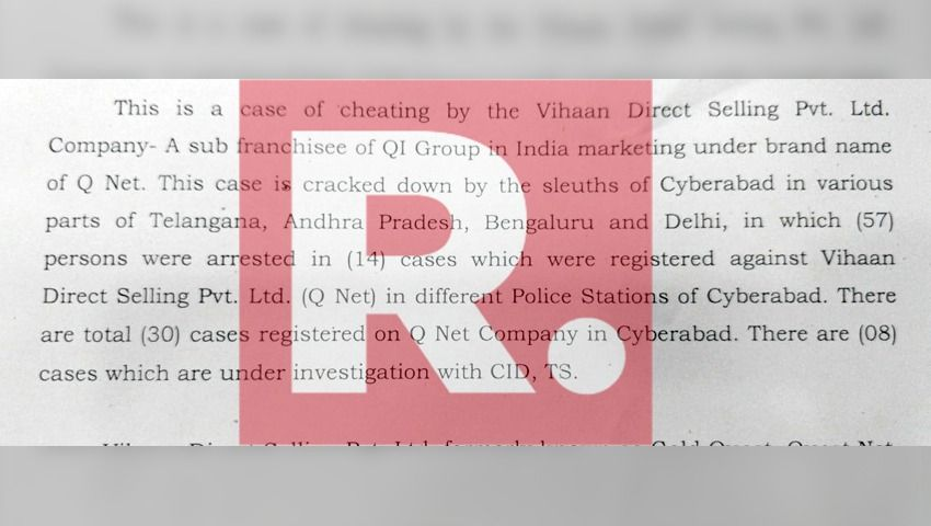 Massive crackdown by Hyderabad Police in QNet scam: 57 arrests in 14