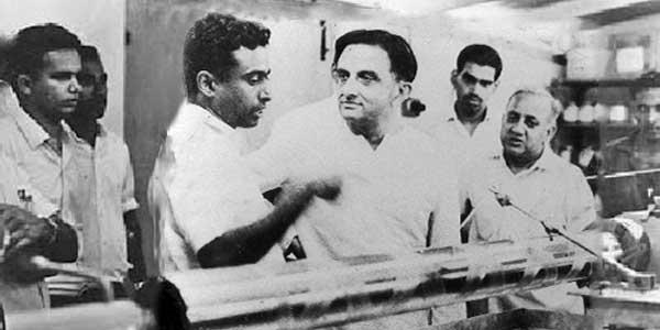 Dr Sarabhai and Dr Kalam.