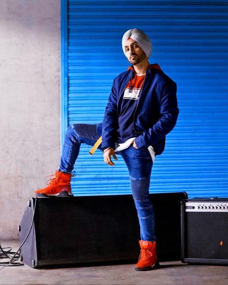 Diljit Dosanjh Blue Outfit