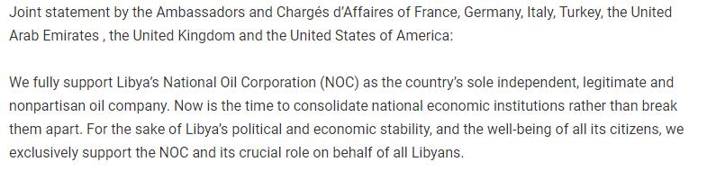 US embassy In Libya statement