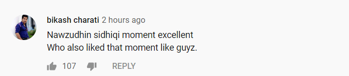 Nawazudddin Siddiqui youtube comment 1
