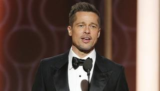 Brad Pitt onstage during the 74th Annual Golden Globe Awards in California  Photo- Getty Images