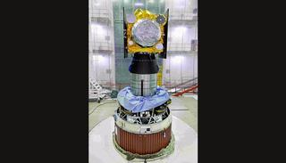 IRNSS-1H Spacecraft integrated with PSLV-C39 (Credit: ISRO)