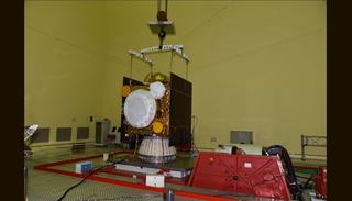 IRNSS-1H is Undergoing Vibration Test (Credit: ISRO)