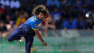Sri Lanka's Lasith Malinga bowls during their fourth one-day international cricket.