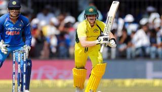 Australia cricket captain Steven Smith bats during the third ODI.