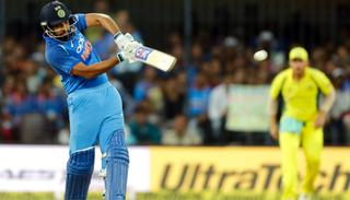 Rohit Sharma enroute to fifty in the third ODI.