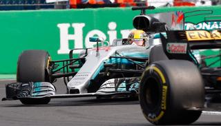Mercedes driver Lewis Hamilton, of Britain, steers his car during the Formula One Mexico Grand Prix .