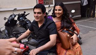Vidya Balan and Manav Kaul begin their journey from the T-Series office in Mumbai   (Pic by Viral Bhayani)