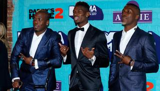 The Pogba brothers at the MTV EMA's in London.