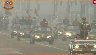The Grand Parade of the largest democracy in the world begins, led by Lt Gen Asit Mistry