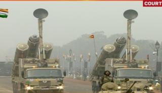 Mobile Autonomous of Defense Missile System on display