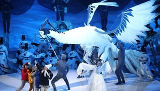 Dancers perform during the Opening Ceremony of the PyeongChang 2018 Winter Olympic Games
