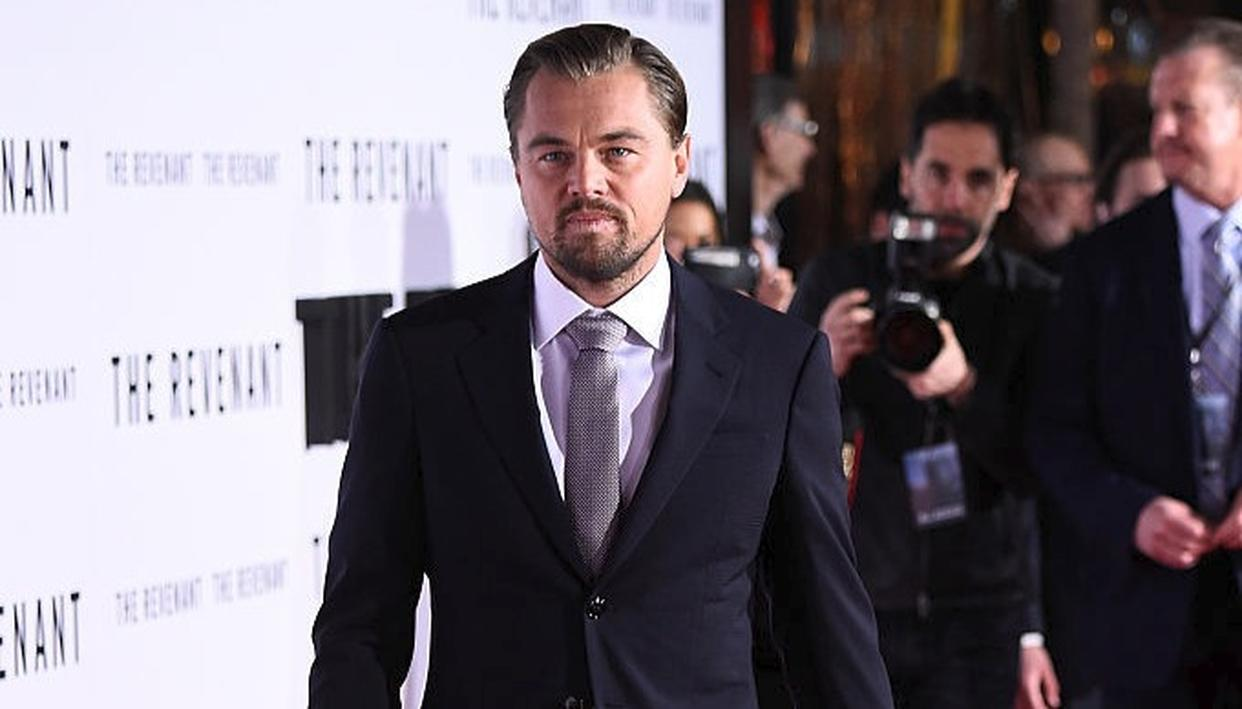 Leonardo DiCaprio at the premiere of 'The Revenant' in California  Photo- Getty Images