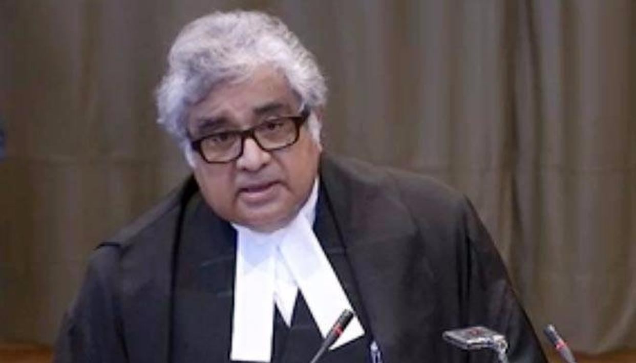 Former Solicitor General of India Mr. Harish Salve at the ICJ.