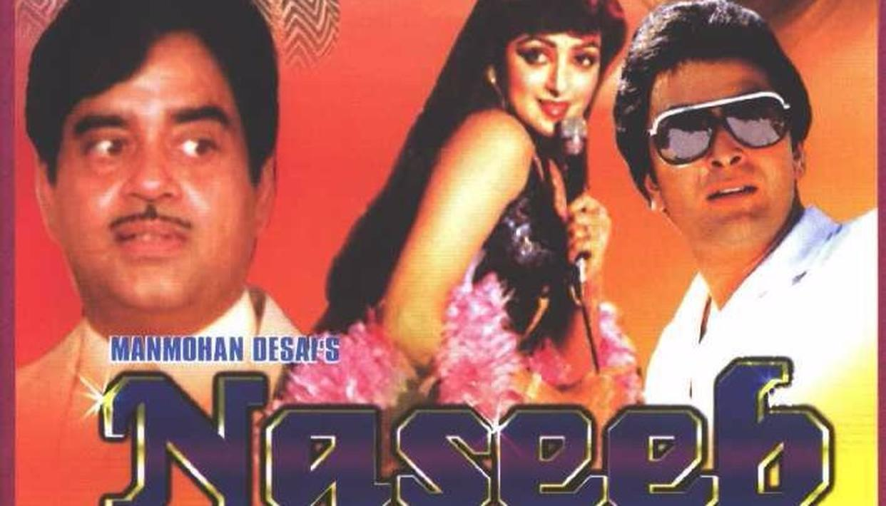Naseeb(1981): Another Manmohan Desai classic with the golden combination of Amitabh Bachchan and Rishi Kapoor. This movie is great for many reasons but the highlight is Amitabh Bachchan and Rishi kapoor in the song Chal Mere Bhai. Credit: IMDb