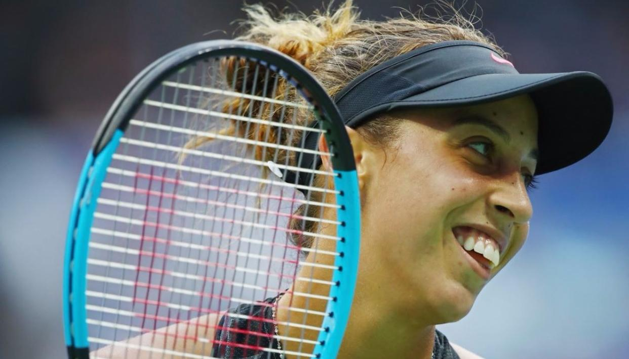 Madison Keys reacts against Sloane Stephens during their Women's Singles finals match Photo Credits: Getty Images
